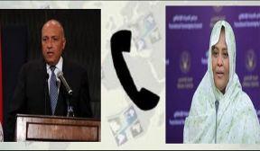 وزير الخارجية المصري يؤكد الحرص على مواصلة تعزيز العلاقات الثنائية مع السودان