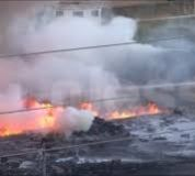 شرطة الجزيرة تسيطر على حريق  بمصنع السجائر بمدني واستمرار عمليات التبريد