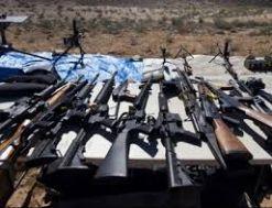 احباط تهريب أسلحة وذخائر في طريقها إلى البلاد