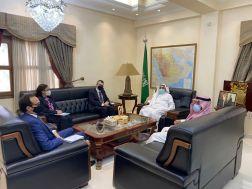 سفير خادم الحرمين الشريفين يلتقي رئيس بعثة اليونيتامس