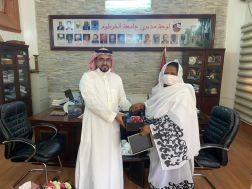 المستشار الإعلامي السعودي يلتقي بمدير جامعة الخرطوم