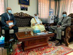 مدير المنظمة العربية للتنمية الزراعية يستقبل سفير المملكة لدى الخرطوم