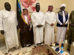 نائب رئيس جمهورية جنوب السودان يستقبل سفير خادم الحرمين الشريفين لدى السودان وجنوب السودان