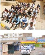 التفكيك تنشر صور للفلول الذين أُلقي القبض عليهم بواسطة الشرطة يقدر عددهم ب٢٠٠ شخص