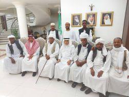 سفير خادم الحرمين الشريفين لدى السودان يستقبل وفد قبيلة الامرار