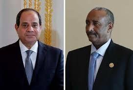 السيسي يهنئ رئيس مجلس السيادة بعيد الأضحى